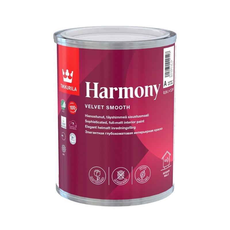 Краска водно-дисперсионная Tikkurila Harmony моющаяся основа C 0,9 л
