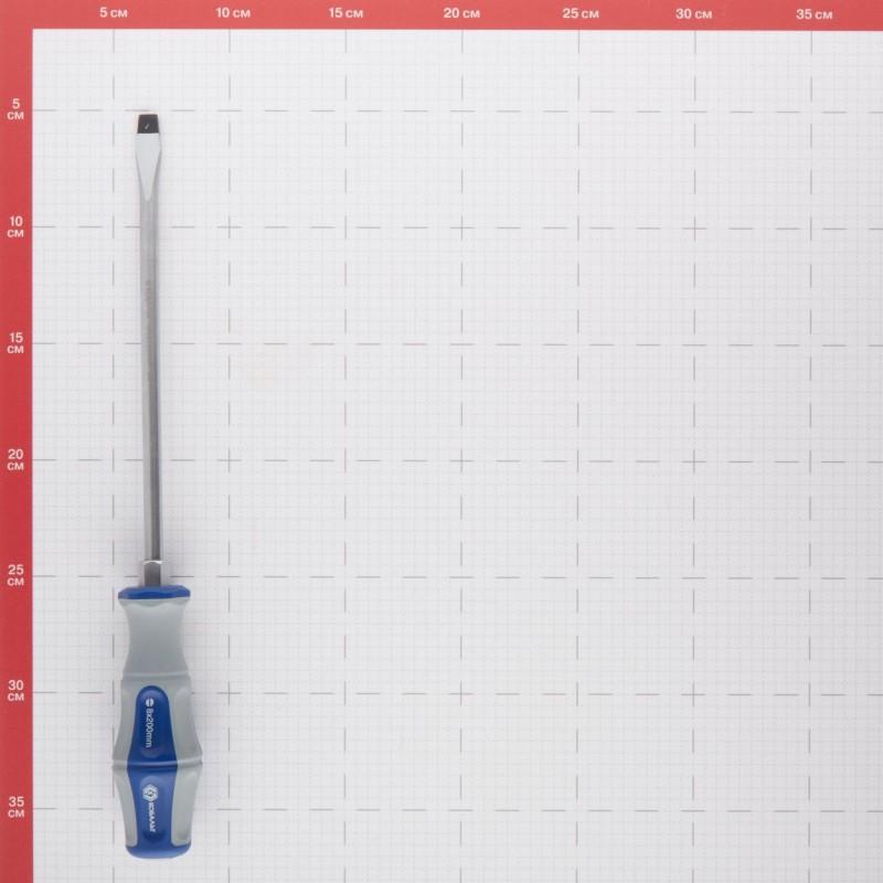 Отвертка плоская SL8 200 мм ударная Кобальт (646-577) (фото 3)