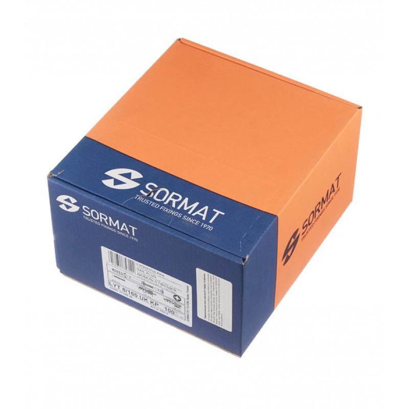 Дюбель-гвоздь Sormat 8x160 мм потайная манжета нейлон (100 шт.)
