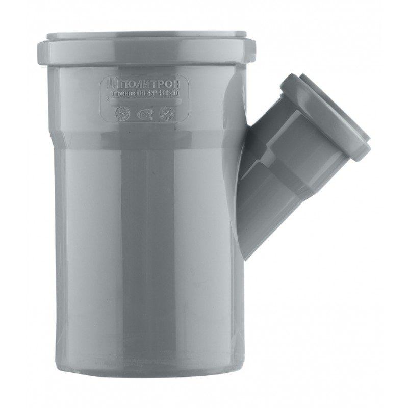 Тройник Pro Aqua Comfort d110х50 мм 45° пластиковый для внутренней канализации