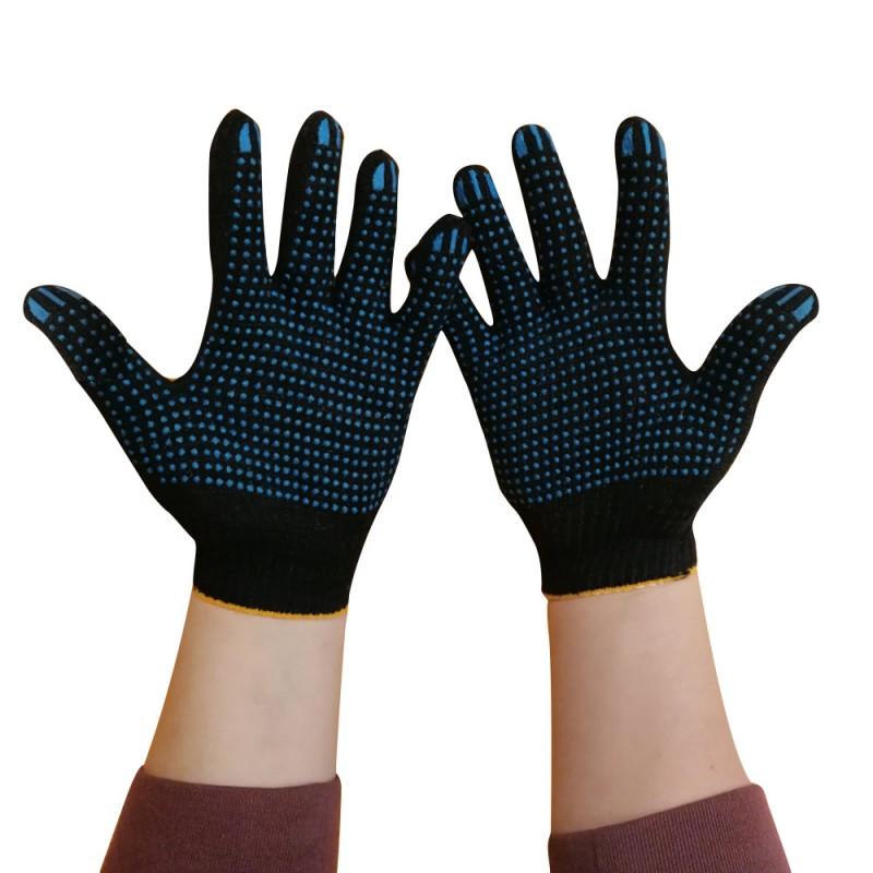 Перчатки х.б. с ПВХ покрытием черные