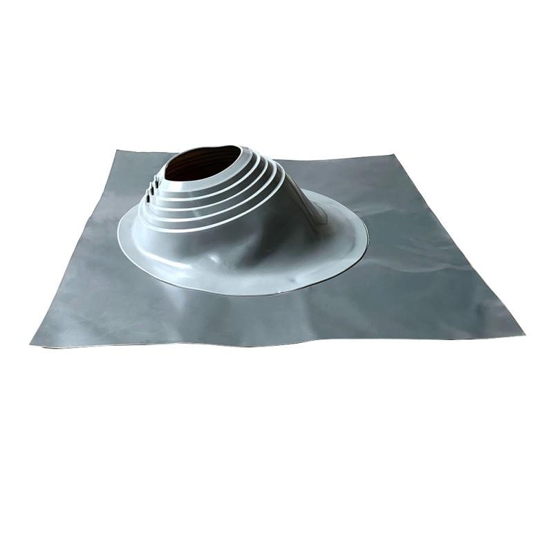 Проходка кровельная КМ 665х665 мм для дымоходов d203-280 мм серебристый силикон