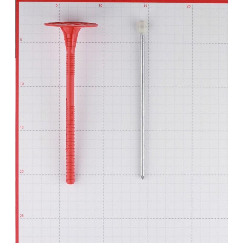 Дюбель для теплоизоляции 10х180 мм металлический гвоздь с термоголовкой (200 шт.)