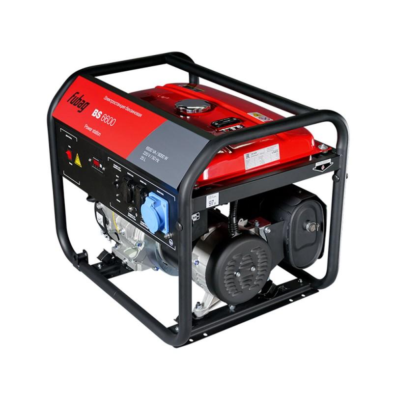 Генератор бензиновый Fubag BS6600 6,0 кВт