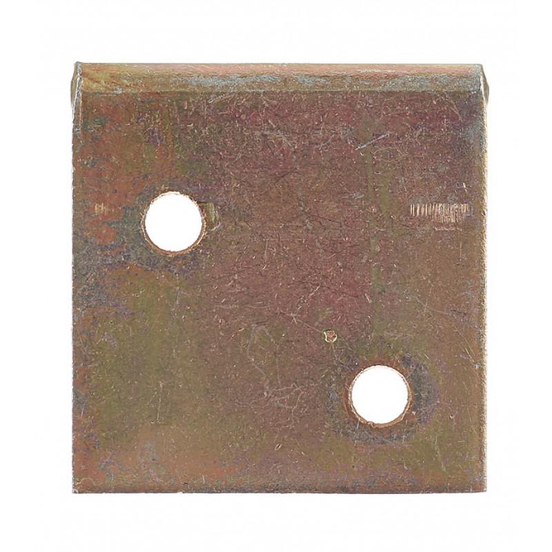 Уголок соединительный оцинкованный 30х30х30х2 мм с желтой пассивацией