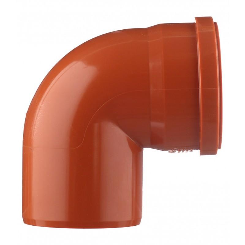 Отвод Ostendorf d110 мм 87° пластиковый для наружной канализации