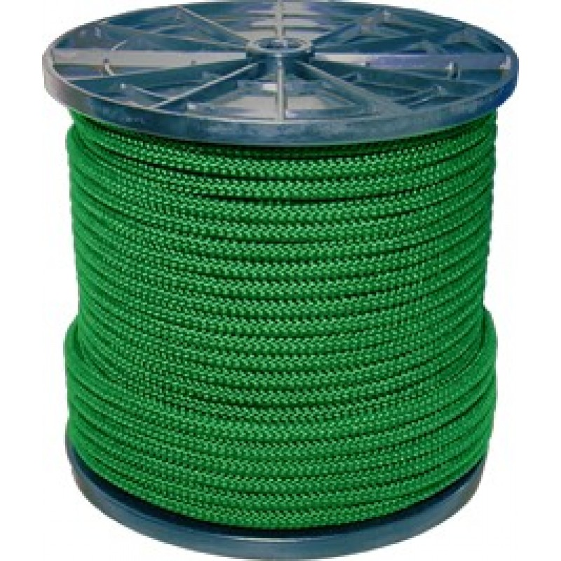 Шнур вязанный полипропиленовый 8 прядей зеленый d3 мм