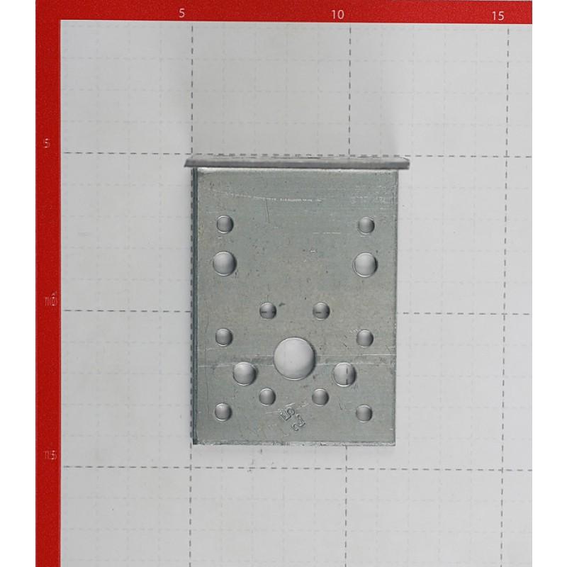 Уголок крепежный оцинкованный 90х90х65х2.5 мм (фото 2)