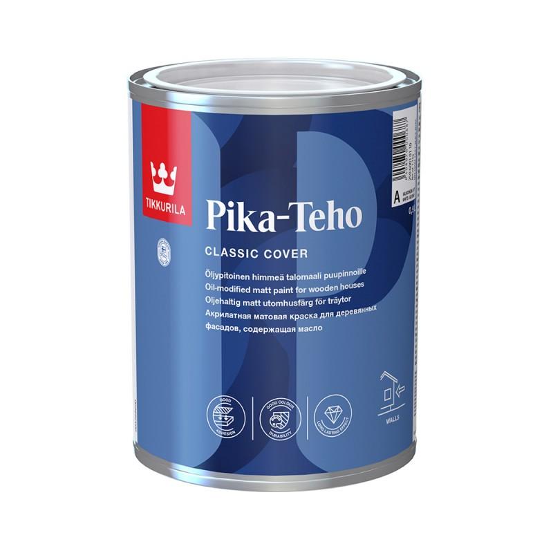 Краска водно-дисперсионная для деревянных фасадов Tikkurila Pika-Teho белая основа А 0,9 л