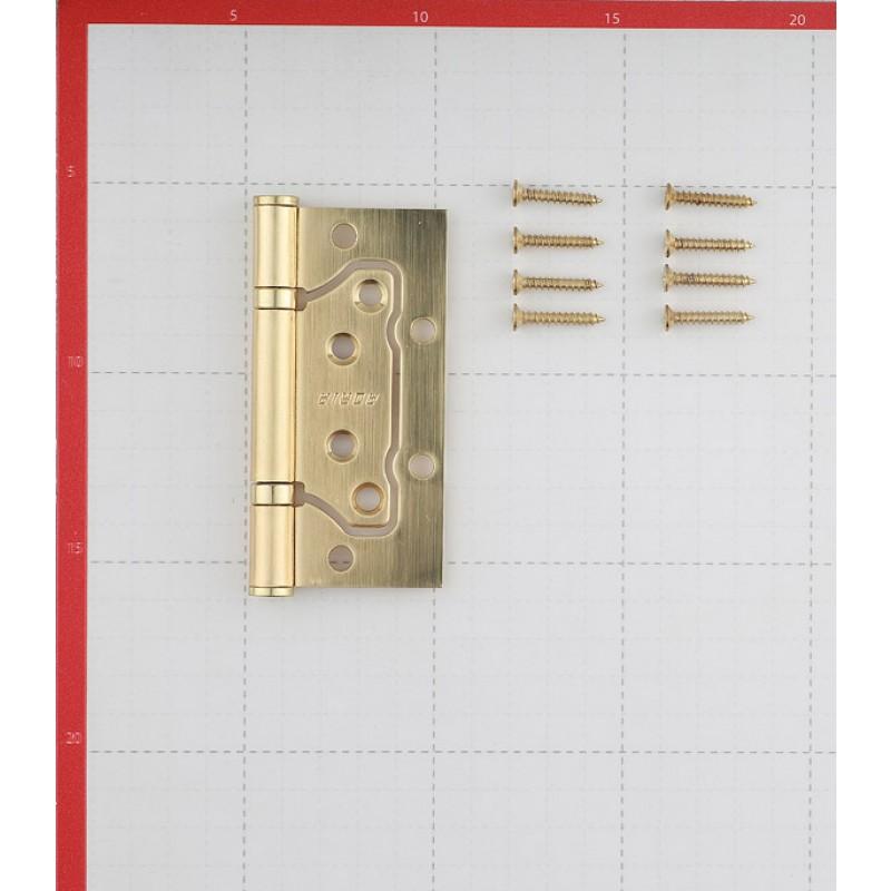 Петля Adria SB бабочка универсальная неразъемная 100х75 мм матовое золото