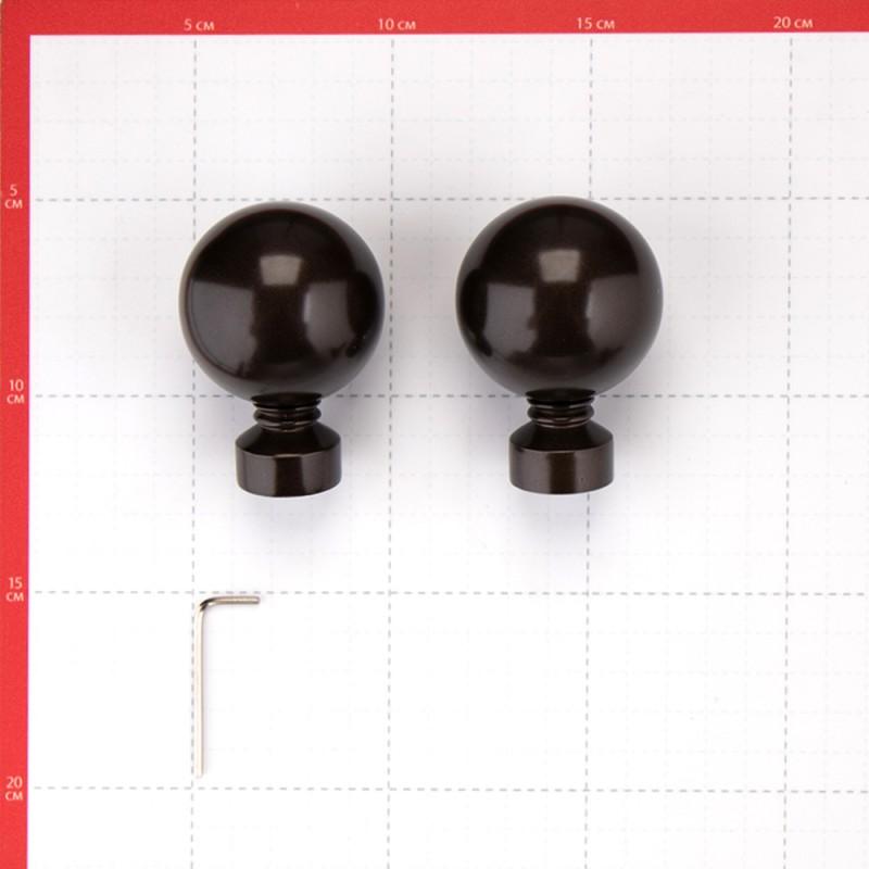 Наконечник Шар d 20 мм шоколад 2 шт. (фото 2)