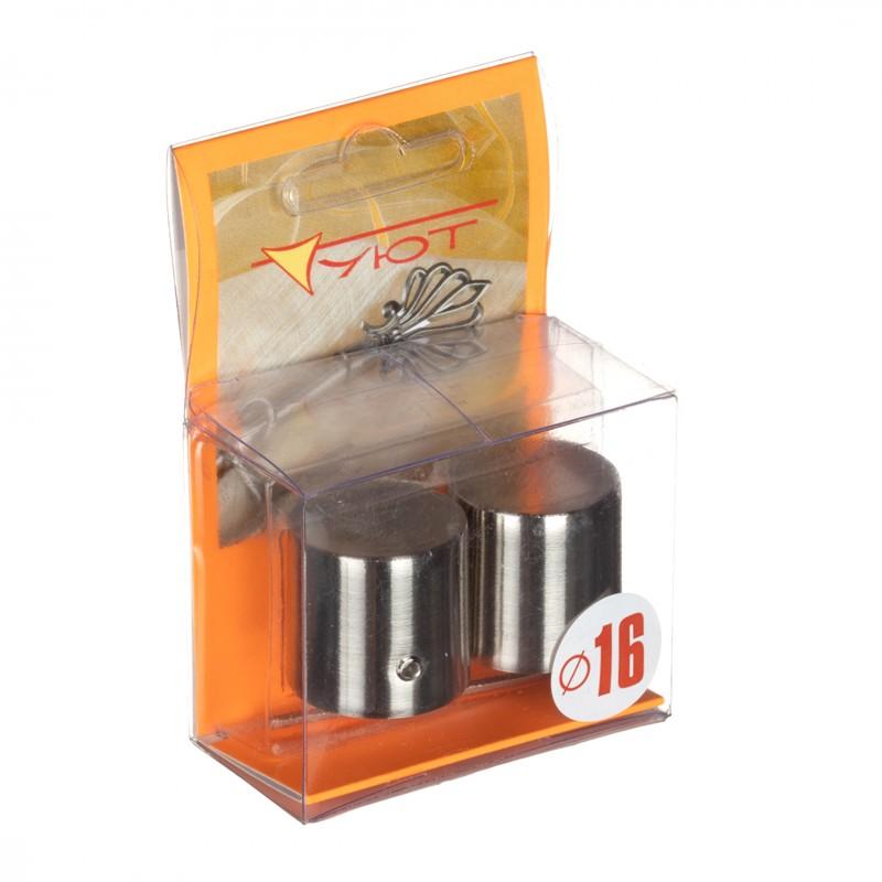 Наконечник Цилиндр d 16 мм серебро 2 шт. (фото 2)