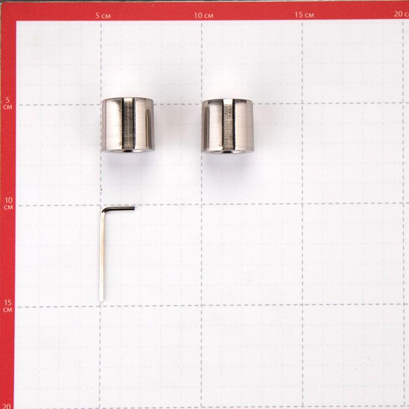 Наконечник Цилиндр d 16 мм серебро 2 шт. (фото 3)