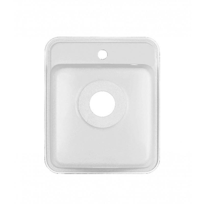 Мойка для кухни GRANULA Standart 420х500х190 мм врезная прямоугольная без крыла кварц белый (фото 5)
