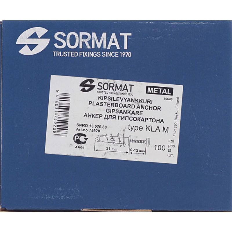 Дюбель для листовых материалов Sormat KLA M 4.5x35 мм сталь (100 шт.) (фото 6)