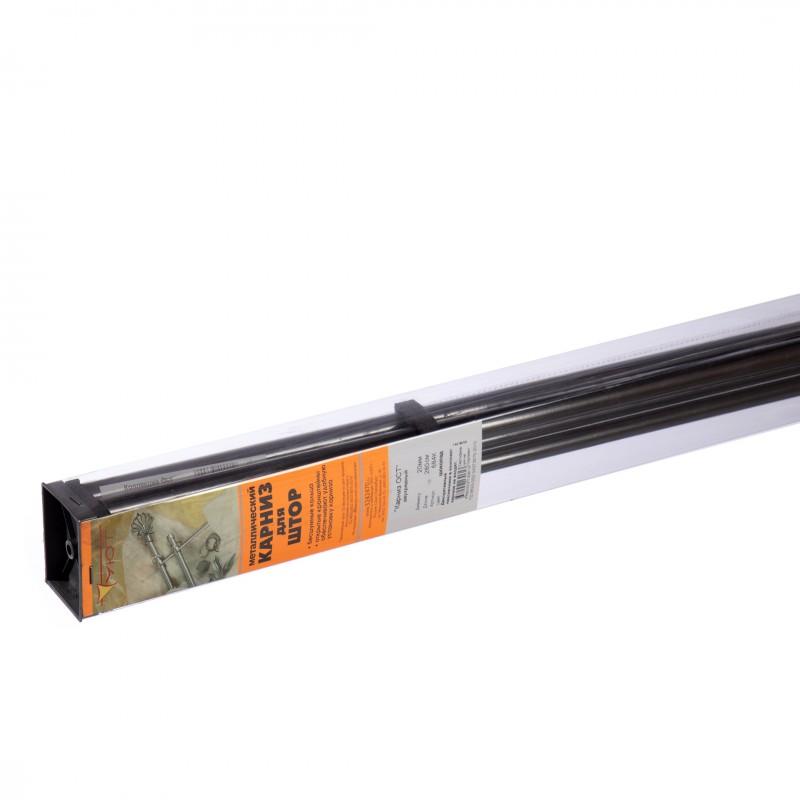 Карниз настенный металлический двухрядный круглый 280 см d 20 шоколад (фото 2)