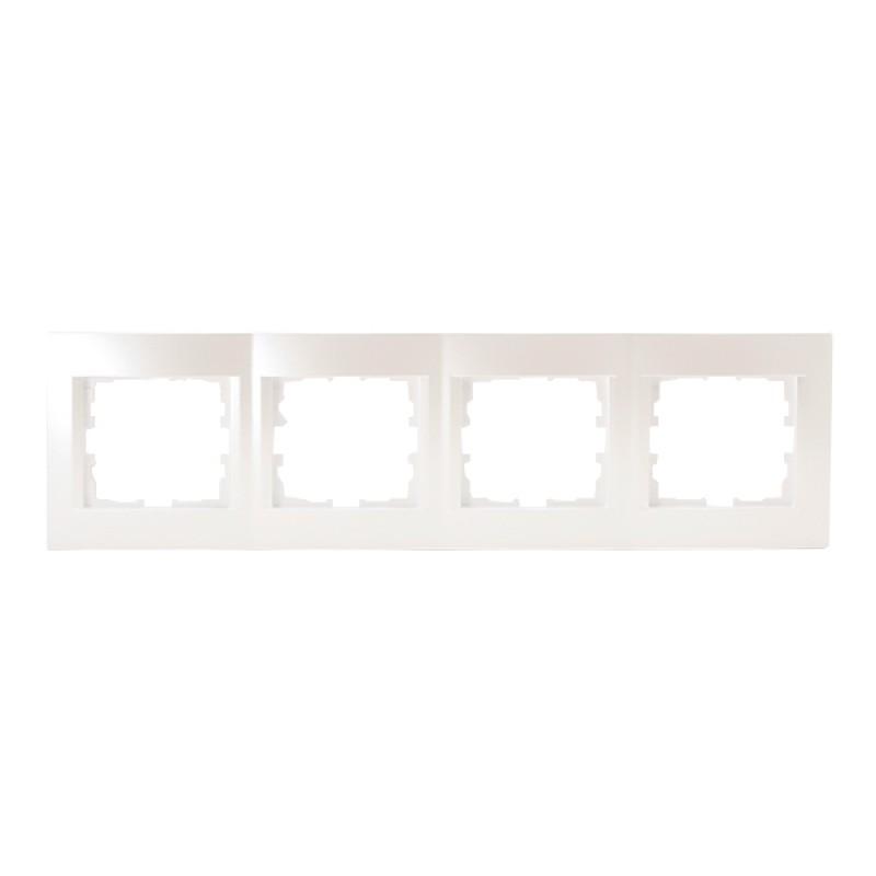 Рамка Lezard KARINA 707-3000-149 четырехместная горизонтальная жемчужно-белая
