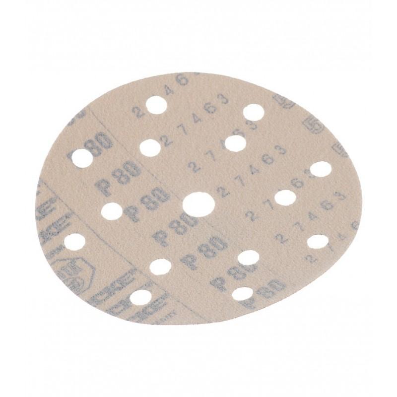 Диск шлифовальный Starcke d150 мм P80 на липучку перфорированный (5 шт.)
