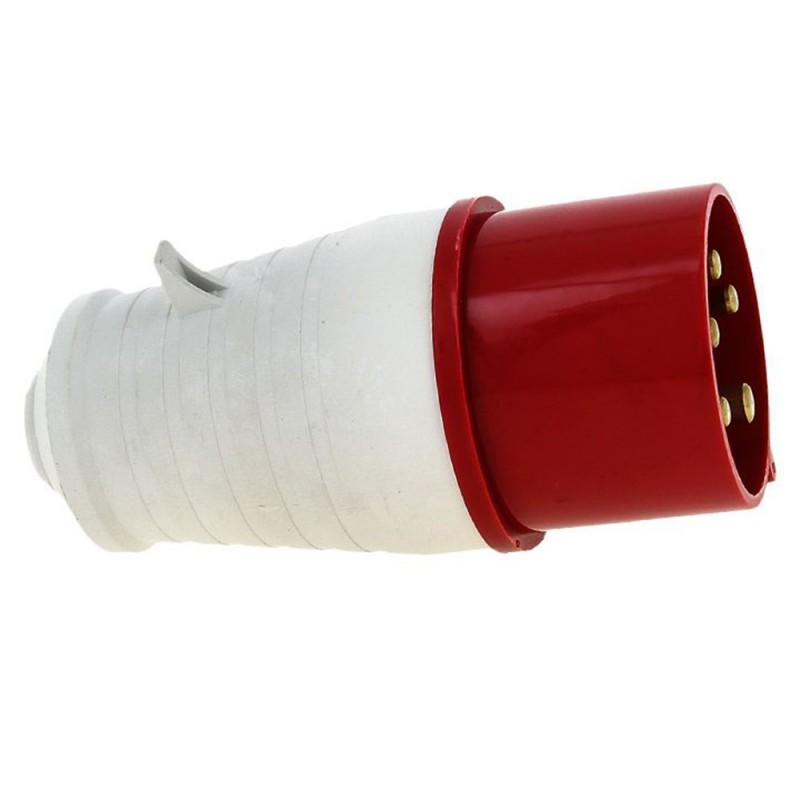Вилка кабельная EKF PROxima прямая переносная 3Р+РЕ+N 3 фазы 32 А 380 В IP44