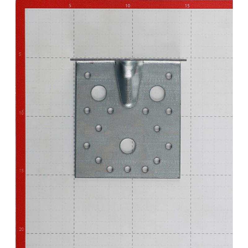 Уголок крепежный усиленный оцинкованный 105 (100)x105 (100)x90x1,8 мм