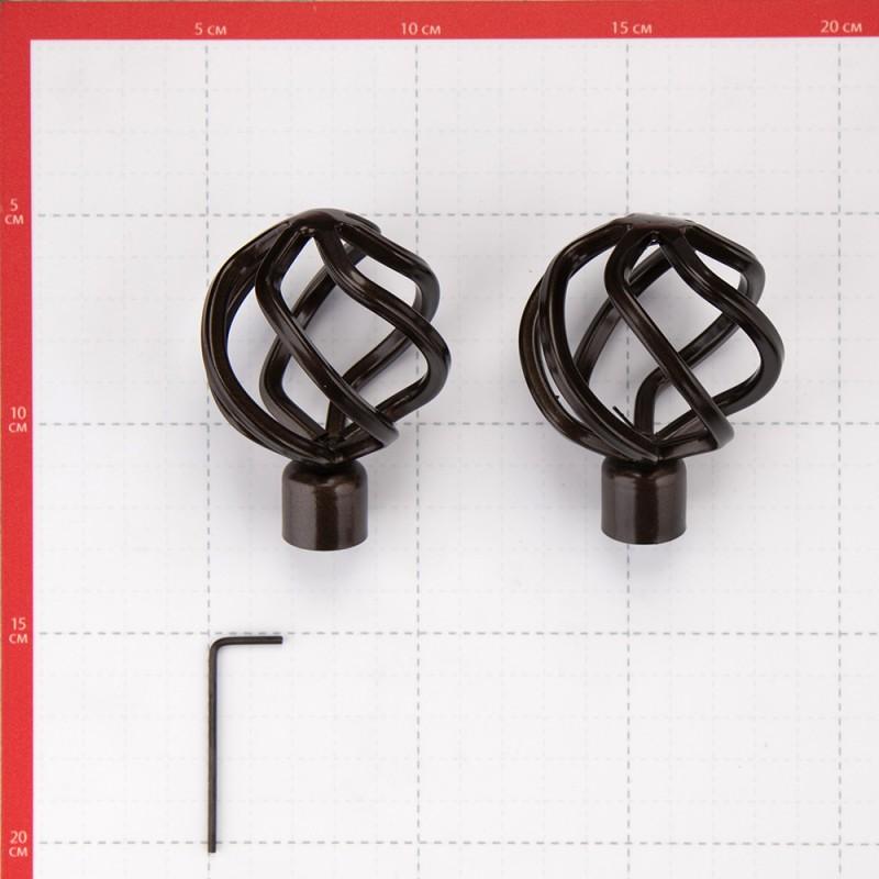 Наконечник Глобо d 16 мм шоколад 2 шт. (фото 2)