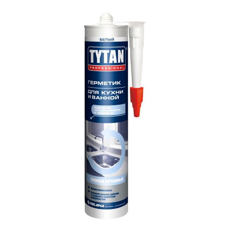 Герметик силиконакриловый для кухни и ванной Tytan Professional белый 310 мл