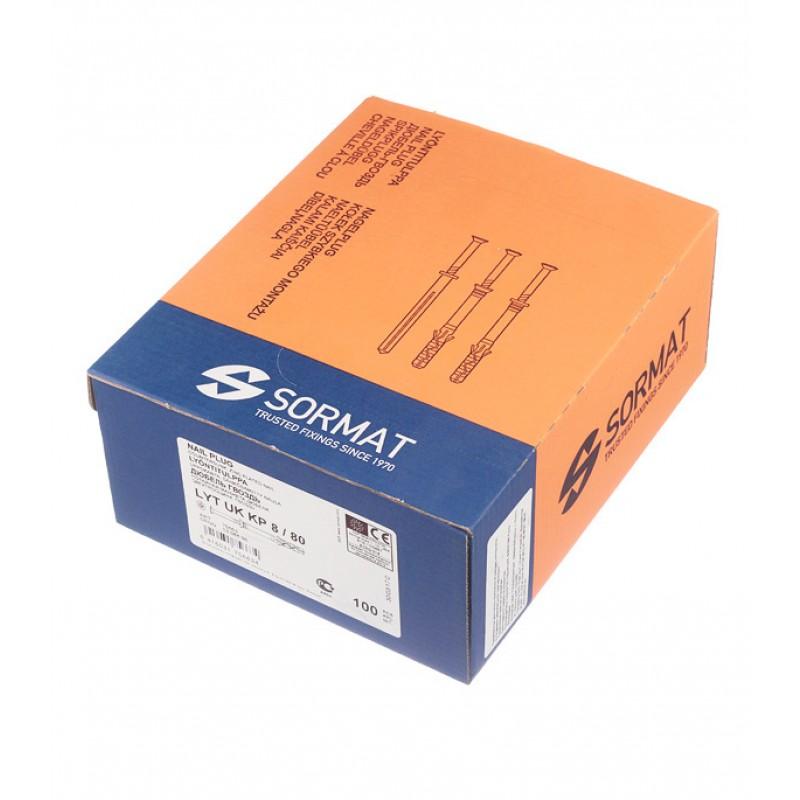Дюбель-гвоздь Sormat 8x80 мм потайная манжета нейлон (100 шт.)