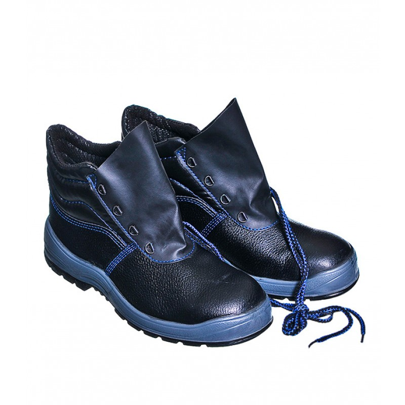 Ботинки рабочие кожаные с металлическим подноском размер 41 черные ТОФФ