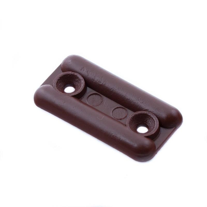 Подпятник пластиковый темно-коричневый (8 шт.)