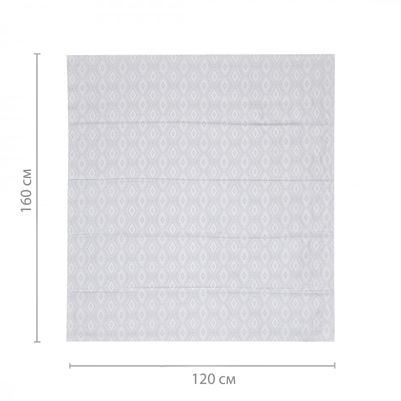 Штора римская Сафари 120х160 см серый (фото 2)