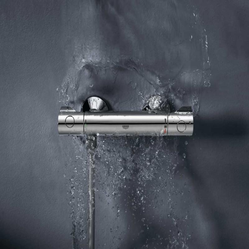 Смеситель термостат для душа без излива GROHE Grohtherm 800 34558000 без лейки (фото 3)