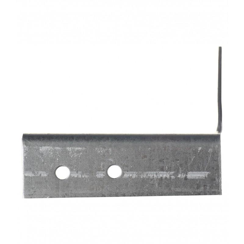 Опора балки правая оцинкованная 140х76х25х2 мм (фото 4)