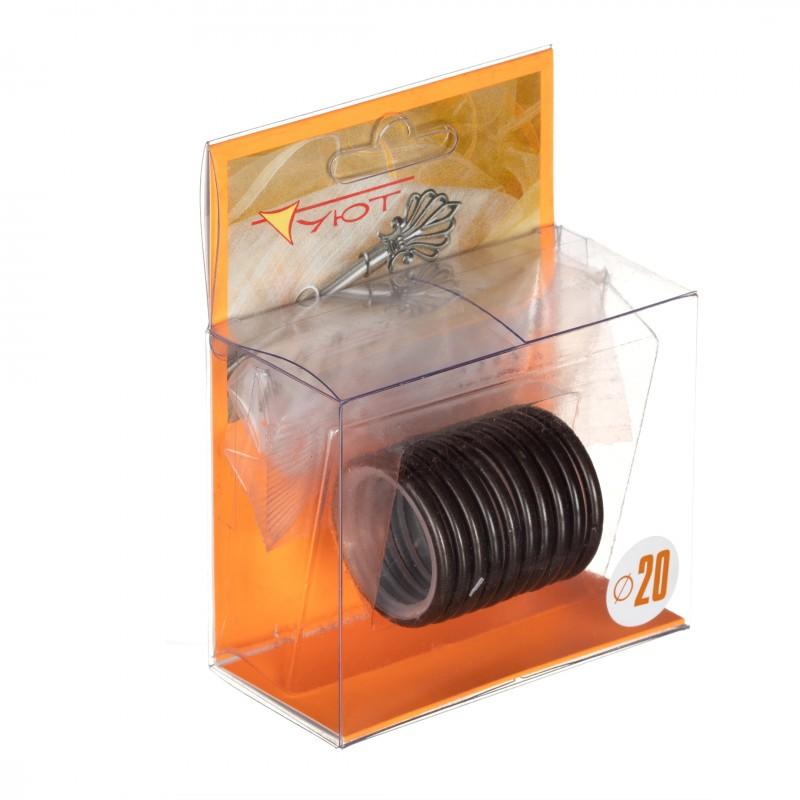 Кольцо с крючком d 20 мм шоколад 10 шт. (фото 2)