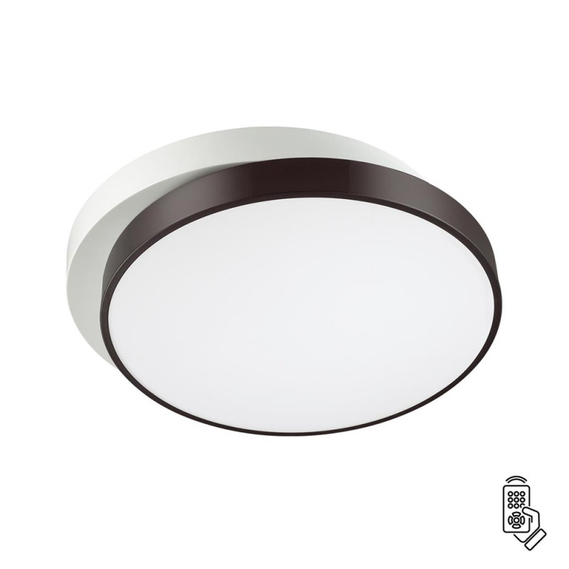 Светильник светодиодный потолочный LUMION AGATHA (4509/72CL) с пультом 72 Вт 220 В белый/черный 3000-6000К теплый/холодный белый свет IP20
