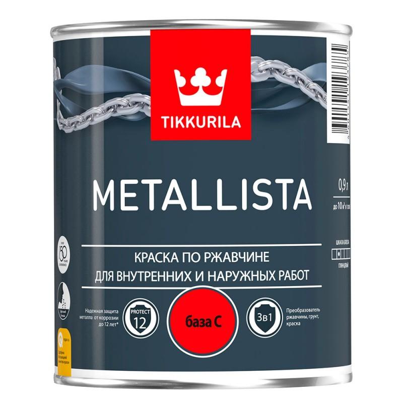 Краска по ржавчине Tikkurila Metallista основа C глянцевая 0,9 л