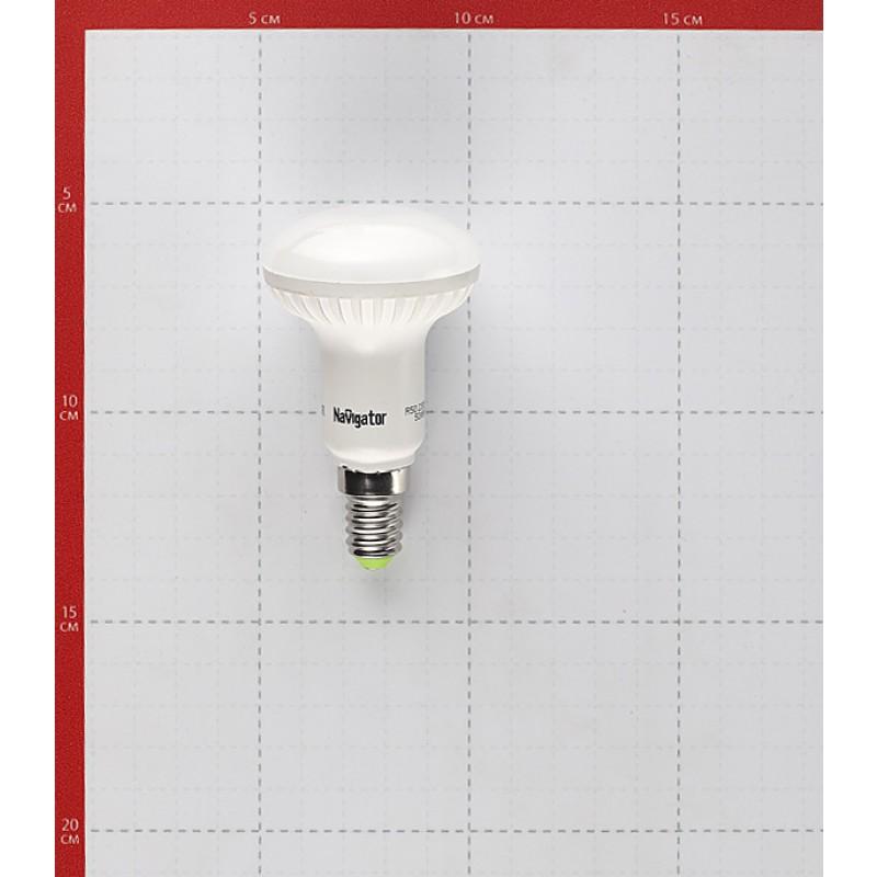 Лампа светодиодная Navigator 5 Вт E14 рефлектор R50 2700К теплый белый свет 220 В матовая