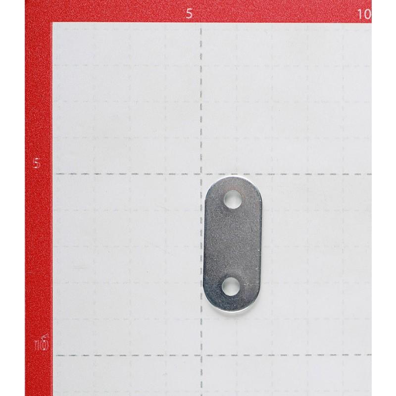 Пластина крепежная оцинкованная 40х16х1.7 мм (8 шт.)