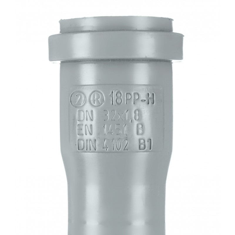 Труба канализационная Ostendorf d32x1000 мм пластиковая для внутренней канализации