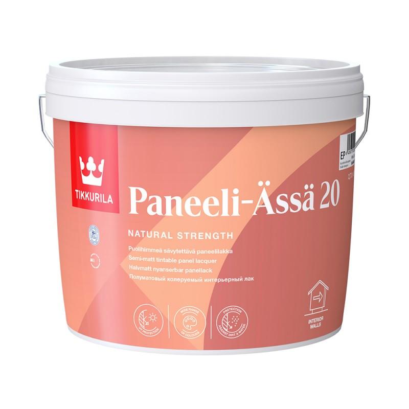 Лак акриловый Tikkurila Paneeli-Assa основа EP бесцветный 2,7 л полуматовый