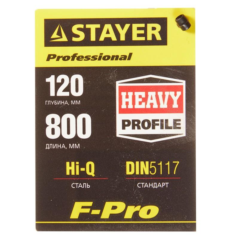 Струбцина столярная STAYER Professional (32095-120-800) F-тип 800x120 мм (фото 3)