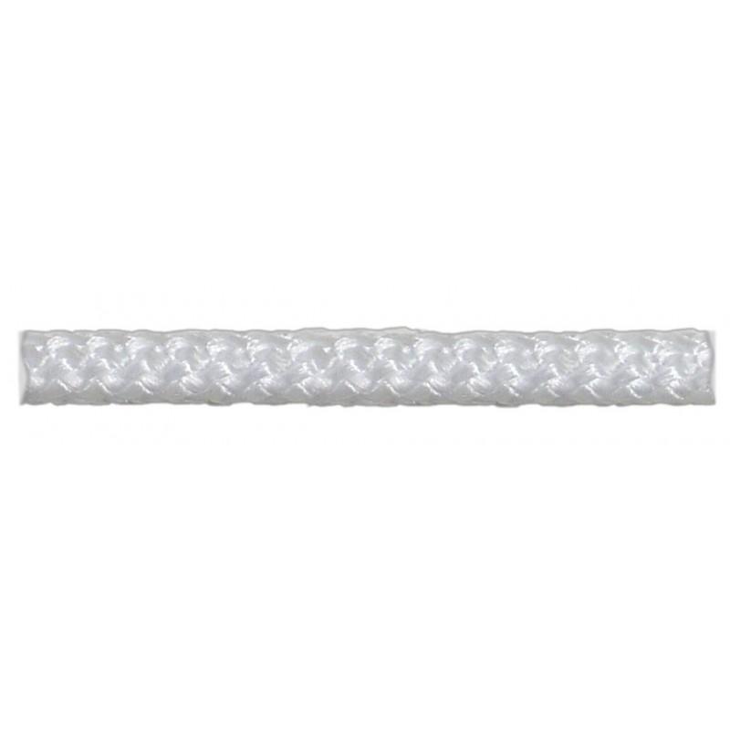Шнур вязаный полипропиленовый 8 прядей белый d4 мм 100 м
