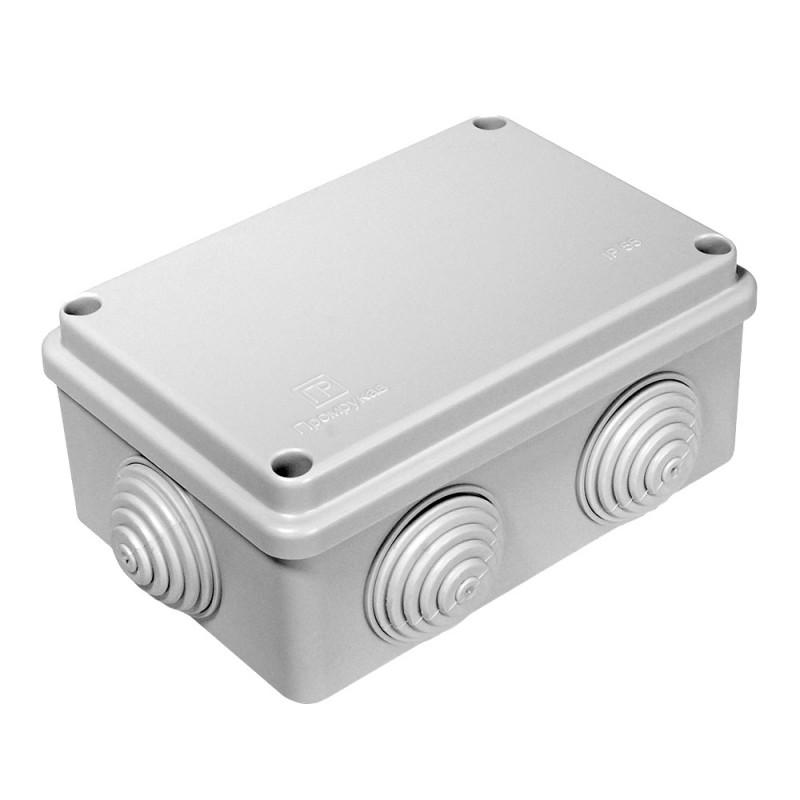Коробка распределительная Промрукав (40-0340) для открытой установки 120х80х50 мм 6 вводов серая IP55 безгалогенная