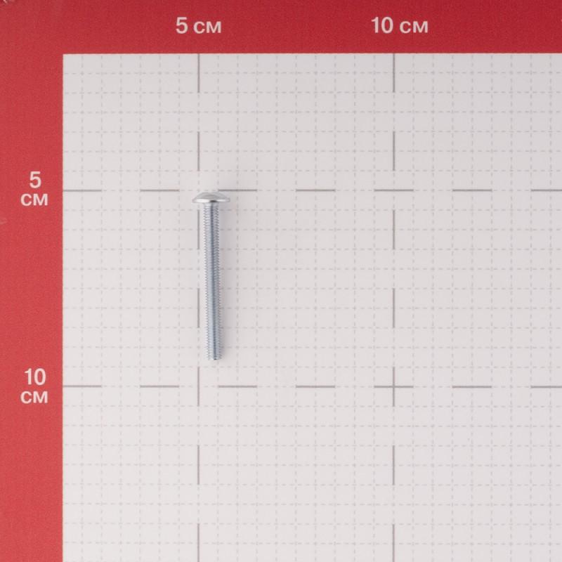 Винт для крепления ручки оцинкованный M4х40 мм полусферическая головка (8 шт.) (фото 2)