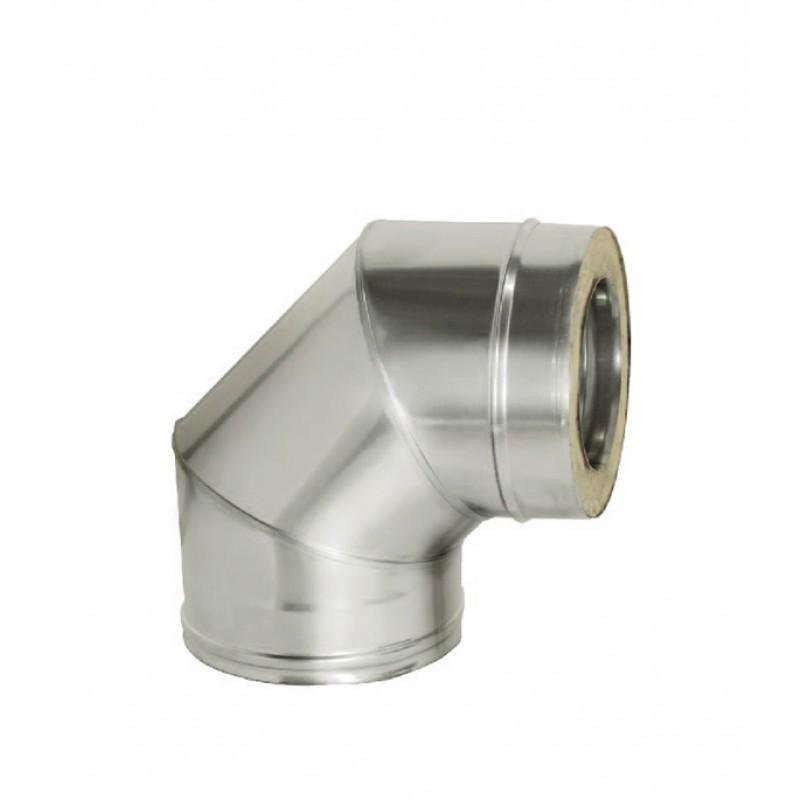 Отвод Дымок 90° х 115х200 мм с изоляцией AISI 439