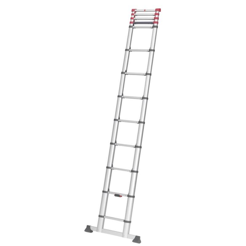 Лестница приставная Hailo T80 FlexLine 380 односекционная алюминиевая 1х13 бытовая