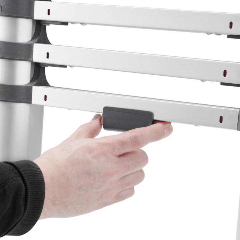 Лестница приставная Hailo T80 FlexLine 380 односекционная алюминиевая 1х13 бытовая (фото 4)