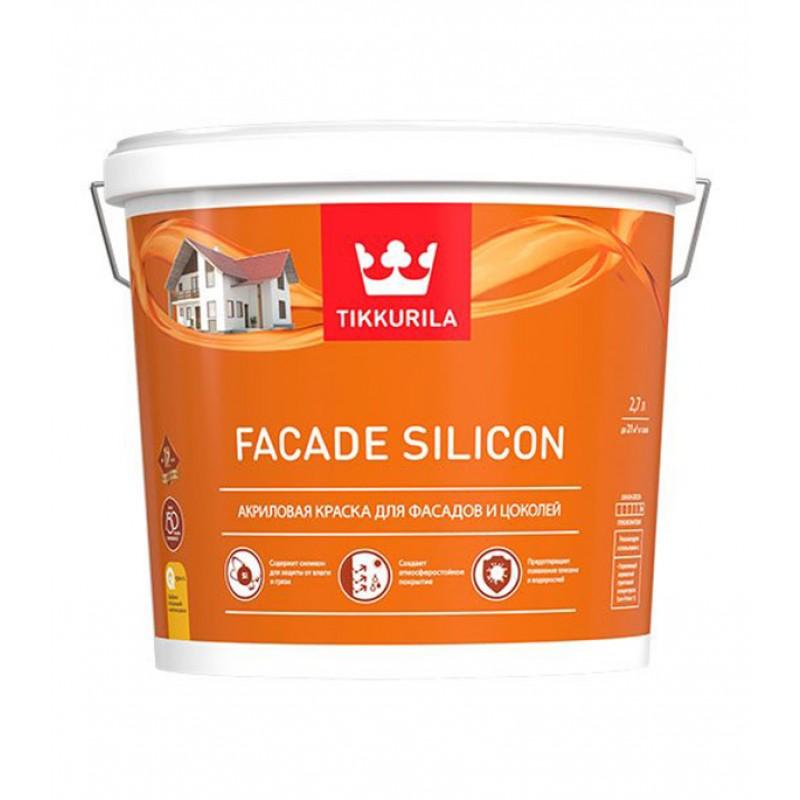 Краска водно-дисперсионная фасадная Tikkurila Facade Silicon основа С 2,7 л