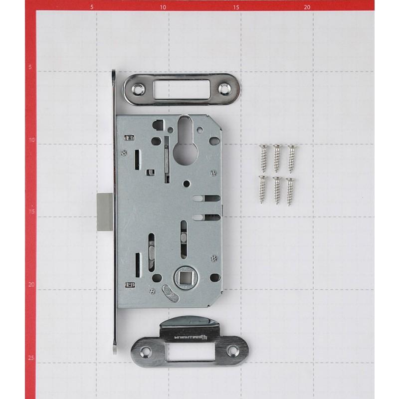 Замок врезной Palladium 600 СР для межкомнатной двери под цилиндр (хром)